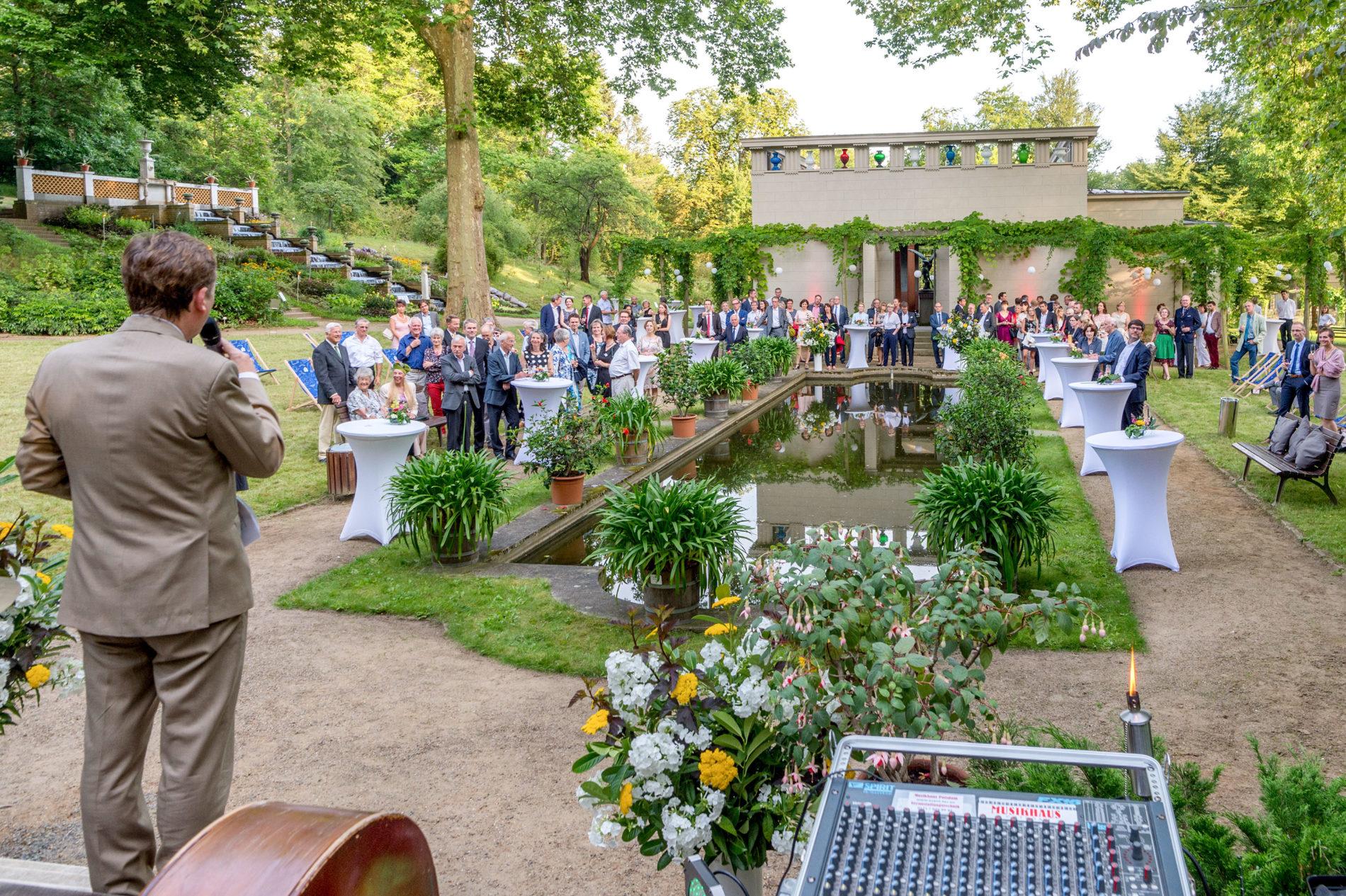 Präsidentendinner im Paradiesgarten des Botanischen Gartens der Universität Potsdam